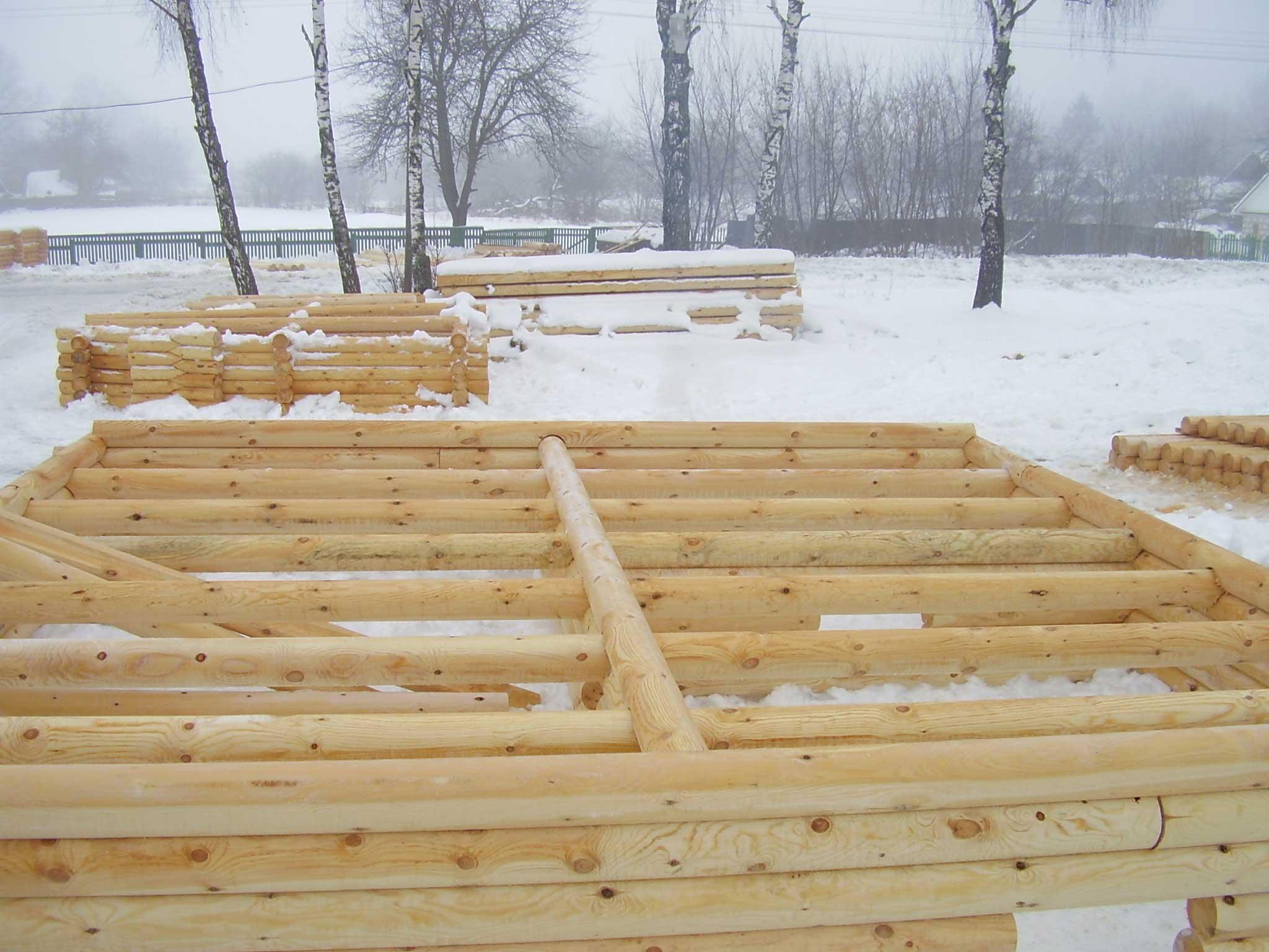Строительство домов из оцилиндрованного бревна своими руками 89